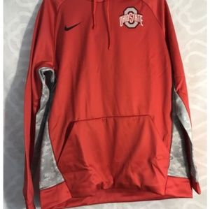 mens nike red sweater.